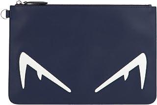 Fendi Men's 7N0078A80SF17PU Blue Leather Clutch