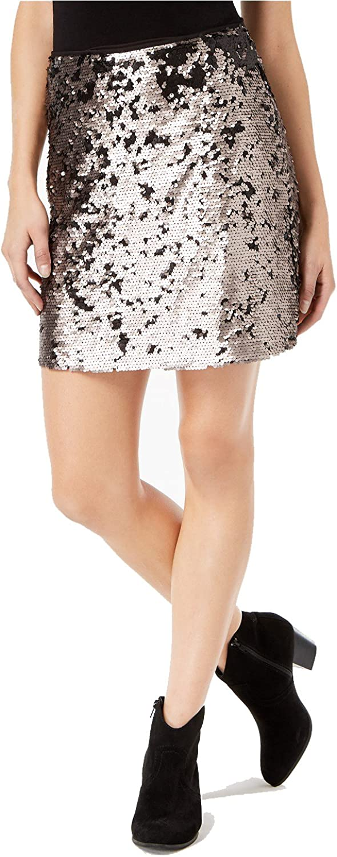 1.State Womens Sequinned Mini Skirt