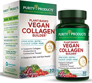 Sponsored Ad - Vegan Collagen Builder - Organic Whole Foods Fruits + Veg, Silica, Lutein, Vitamin C, Biotin, Grape Seed - ...