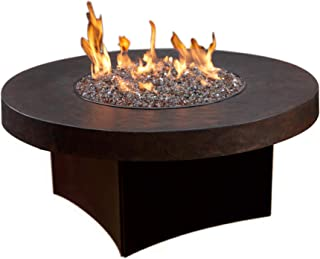 "Oriflamme Brown/Stone Gas Fire Pit Outdoor Fire Table with Tempered Glass, 42"" Round Fire Pit for Patio or Deck (Natural Gas)"