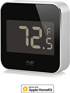 Eve Degree - Connected Weather Station for tracking temperature, humidity & air pressure, IPX3 water resistance, LCD display, Bluetooth Low Energy, black (Apple HomeKit) (Renewed)