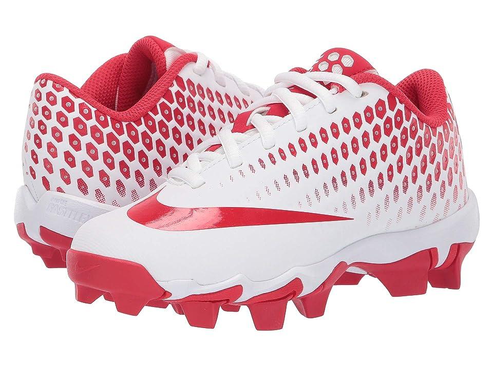 Nike Kids Vapor Ultrafly 2 Keystone Baseball (Little Kid/Big Kid) (White/University Red/Light Crimson) Boys Shoes
