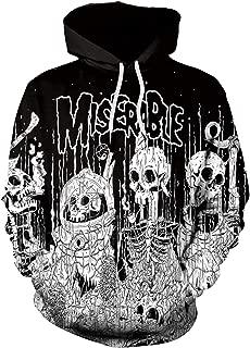 Fashion Men Women Halloween Miserable Skulls Printed 3D Hoodie Hip Hop