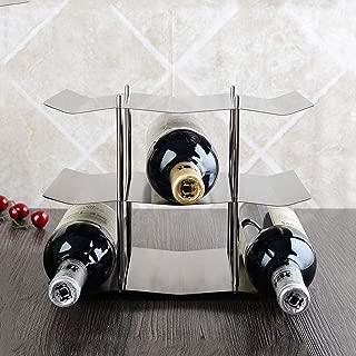 LUGEUK Supporto per ripiano da Tavolo Semplice da appoggio per Vino impilabile Color : Bronze