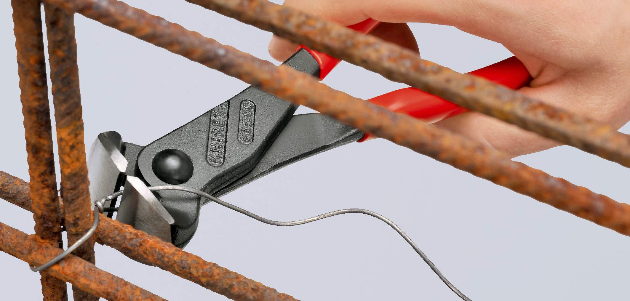 KNIPEX 68 01 180 EAN Alicate de corte frontal negro atramentado recubiertos de plástico 180 mm: Amazon.es: Bricolaje y herramientas