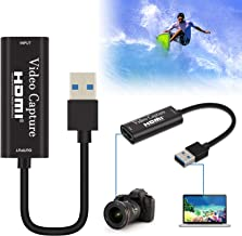 Pradory Audio Video Capture Card,HDMI to USB 3.0 HD 1080P Video Capture Adapter Directly to Computer for Gaming,Streaming,...