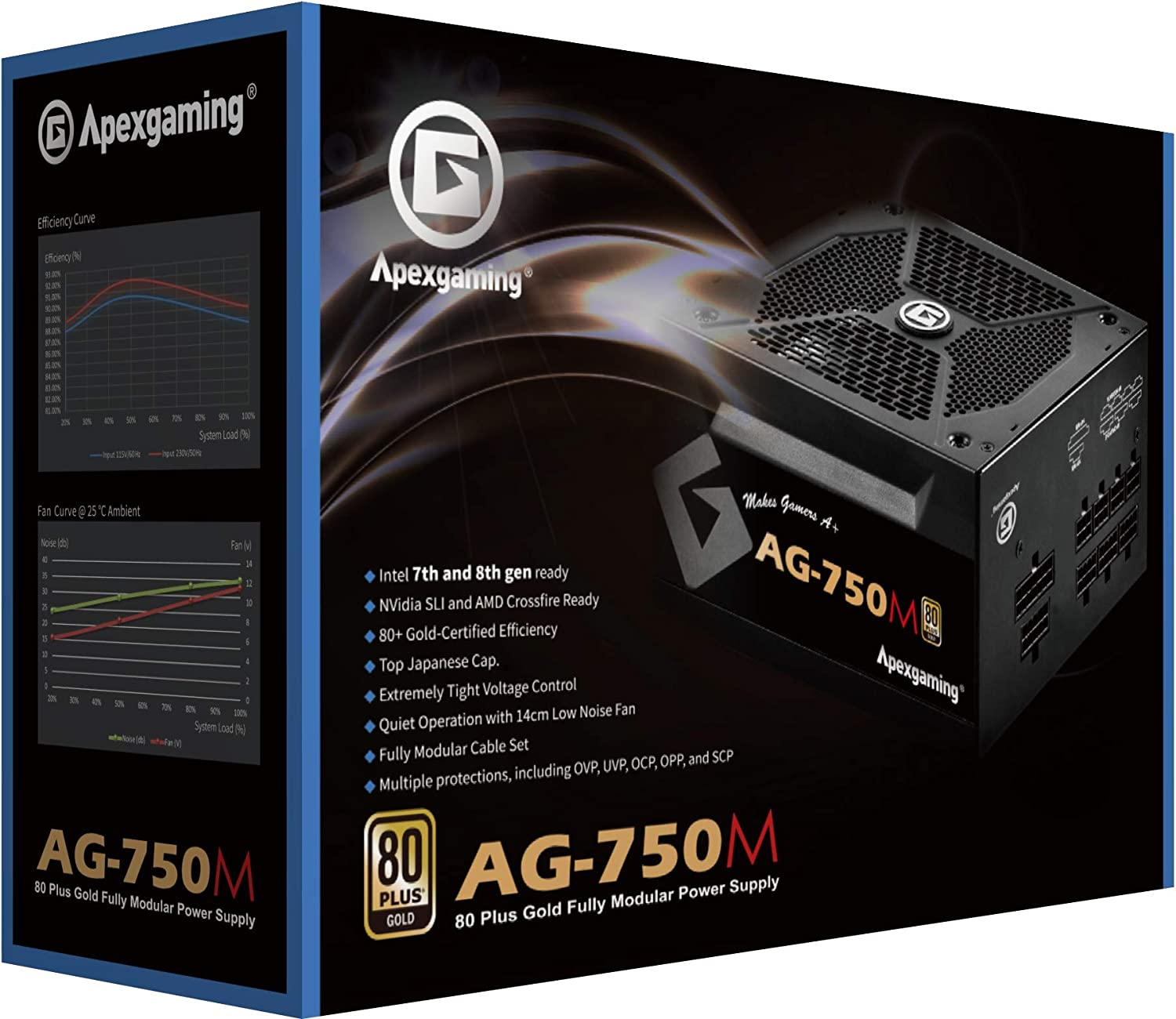 New 2020 80+ Gold Certified Modular Performance Many popular brands Fully 750W Los Angeles Mall High