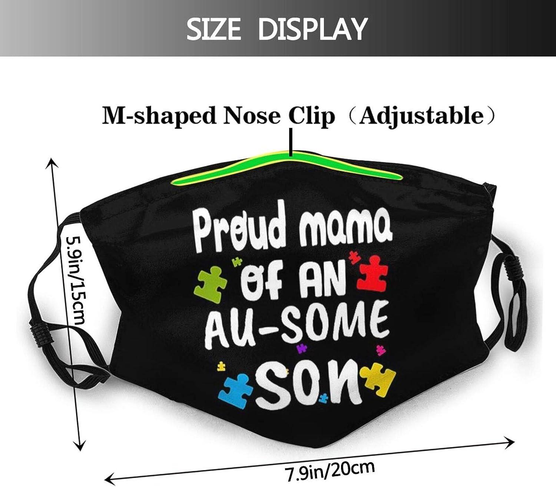 Autism Awareness Day Face Mask Balaclavas Reusable Cloth Bandana Adjustable Mouth Mask with 2 Filters for Anti Dust Haze