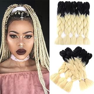 Ling Xiu Hair Ombre Braiding Hair Synthetic Crochet Hair Extension High Temperature Kanekalon Fiber 24'' For Lady Jumbo Braid Hair 5pcs/Lot