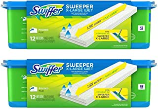 Swiffer Sweeper X Large Wet Mopping Cloths Refills, Open Window Fresh, 12 Folded Sheets (Pack of 2)