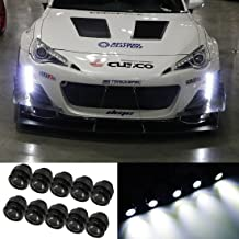 iJDMTOY 30W High Power 10-LED LEDayFlex Style Flexible Free Style LED Daytime Running Light Kit, Xenon White Color