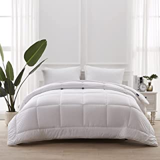 Accuratex White Down Alternative Comforter Queen Size - Embossed Microfiber Soft Lightweight Quilted Comforter Duvet Inser...