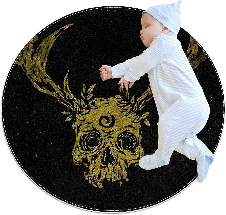 Skull Mesa Mall Minimalism Kids Polyester Play Deta Soft Mat Choice Crawling