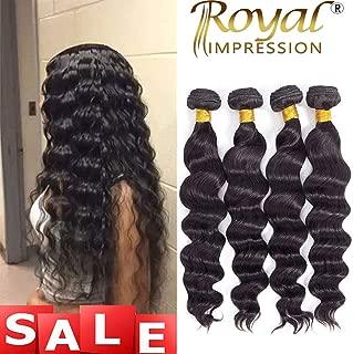 Brazilian Virgin Hair Loose Wave 4 Bundles 10A Grade Unprocessed Virgin Human Hair Remy Hair Bundles Natural Color (14