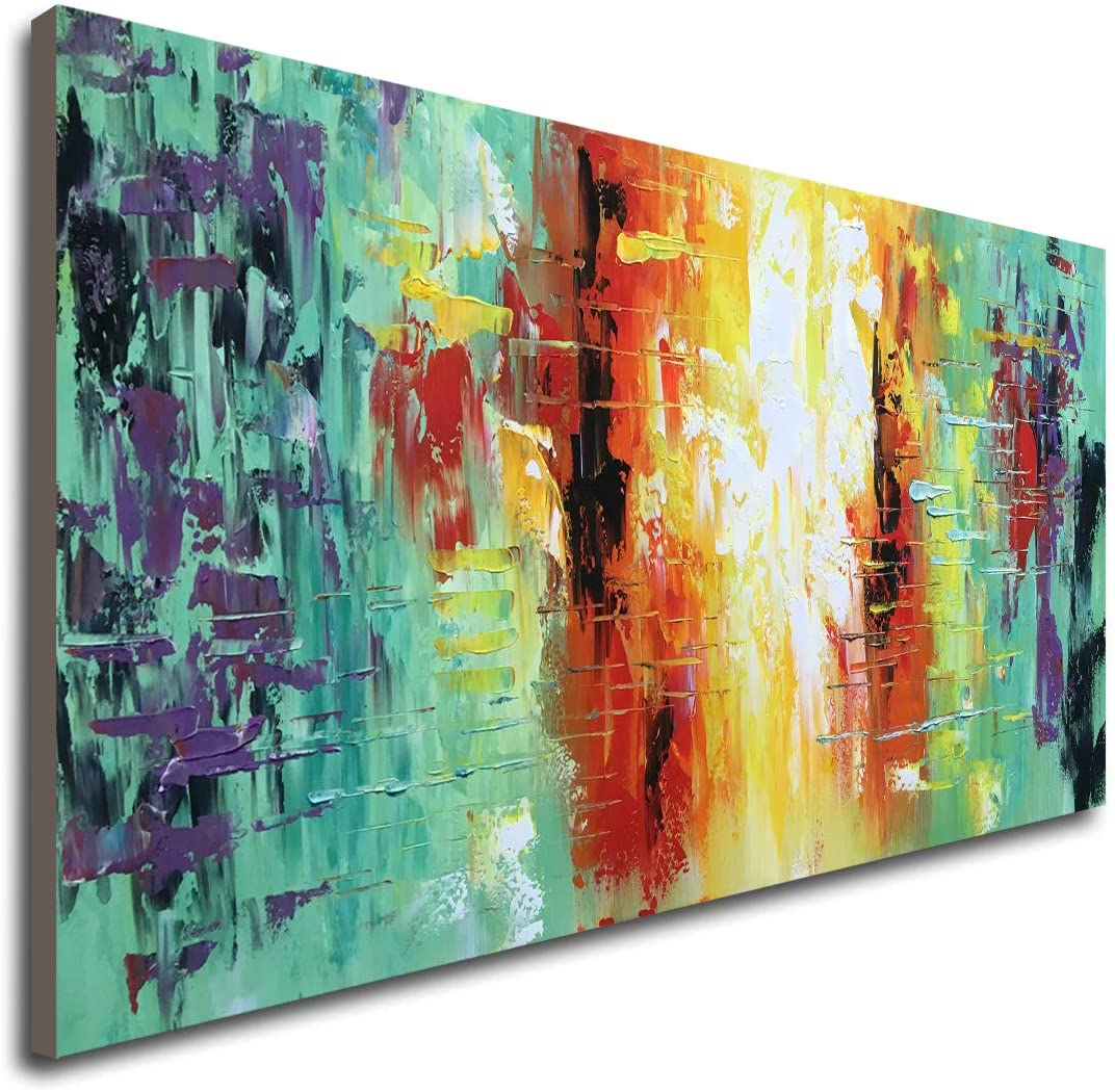 Discount mail order Hand Painted Textured New product Abstract Artwork Decor Wall Modern Han Art