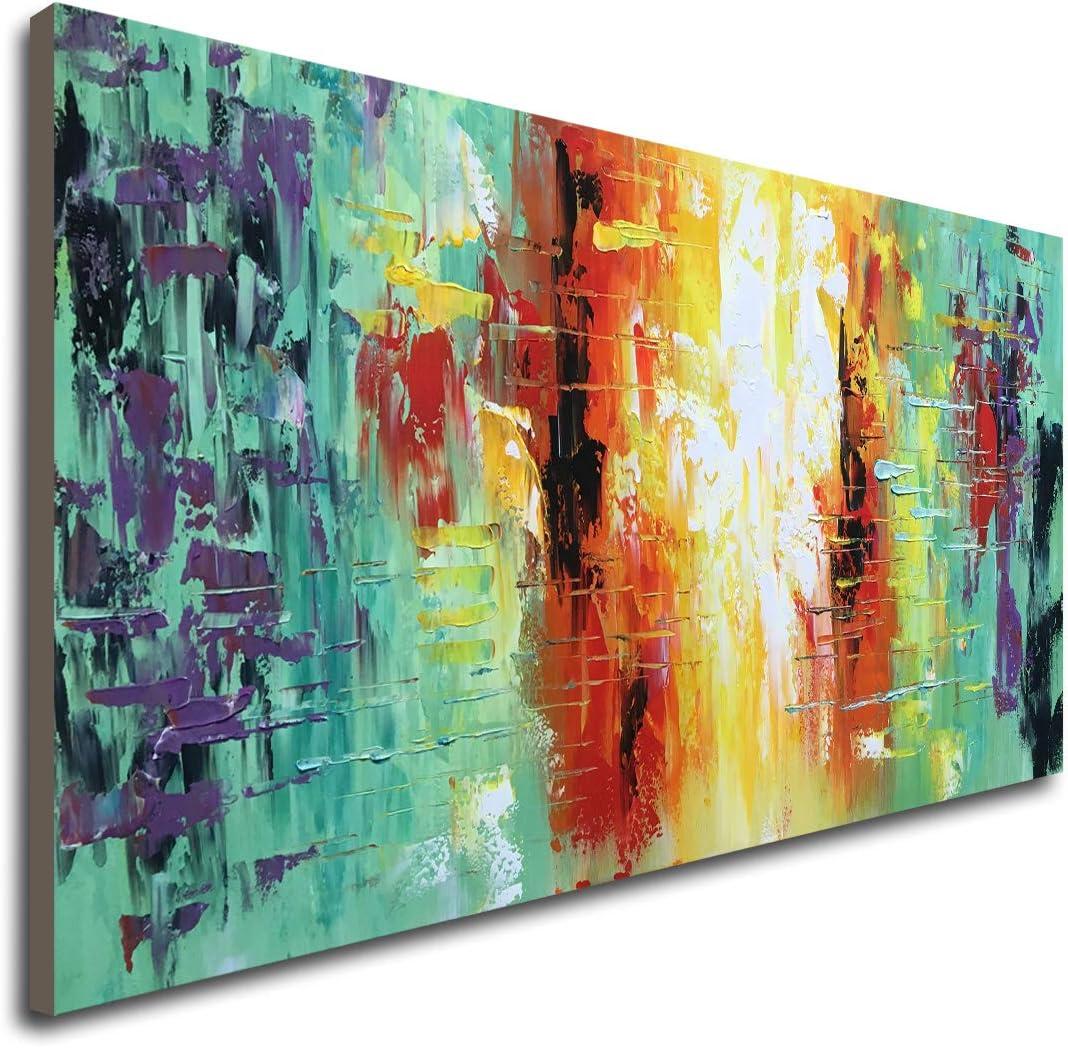 Hand Painted Textured Max 76% OFF Abstract Artwork Han Ranking TOP5 Wall Decor Modern Art