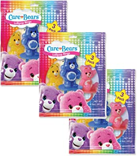 Character Lollipop Rings- Birthday Party Favors, Cupcake Decorations, Carnival Prizes (Pack of 3 Bags) (Care Bears)