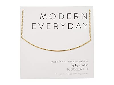 Dogeared Modern Everyday, Top Layer Collar Necklace (Gold) Necklace