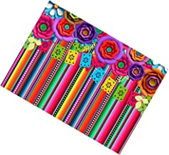 FRCOLOR Mexican Fiesta Photography Backdrop Cinco de Mayo Photo Background Fiesta Party Stripes Backdrop Dress- up Party B...