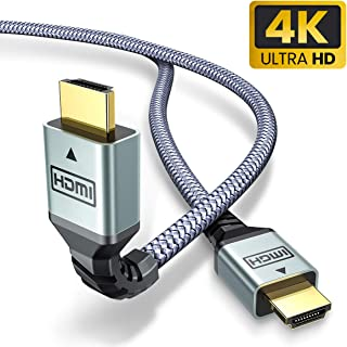 AINOPE 4K HDMI Cable 6.0 ft (4K 60Hz, HDMI 2.0, 18Gbps) - Armor Nylon Braided HDMI Cord - Audio Return(ARC) Compatible UHD TV, Blu-ray, Xbox, PS4, PS3, PC
