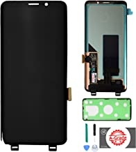 KR-NET AMOLED LCD Display Touch Screen Digitizer Assembly Replacement for Samsung Galaxy S9 SM-G960, with Adhesive and Tools