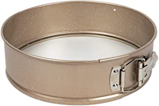 """Cook with Color Bakeware Non Stick Springform Pan, 9"""" Round Baking Pan with Glass Base (Champagne)"""