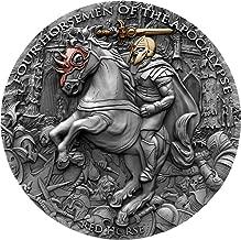 2019 NU Four Horsemen Apocalypse PowerCoin RED HORSE Four Horsemen Of The Apocalypse 2 Oz Silver Coin 5$ Niue 2019 Antique Finish