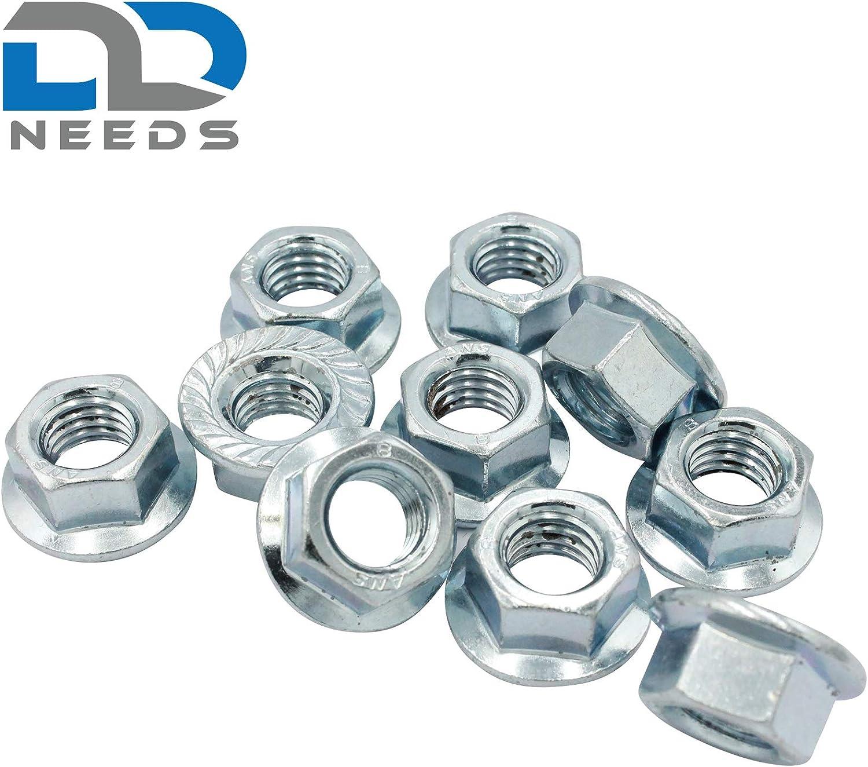 Flanschmuttern mit Sperrverzahnung D2D Bundmuttern nach DIN 6923 // ISO 1661 aus Stahl galvanisch verzinkt Gr/ö/ße: M5 VPE: 10 St/ück