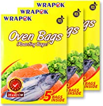 WRAPOK Oven Cooking Turkey Bags Medium Size Ribs Baking Roasting Bags No Mess For Chicken Meat Ham Poultry Fish Seafood Ve...