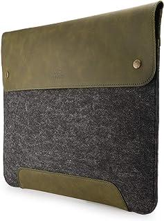 MegaGear Funda de Piel y Forro Polar para MacBook de 13,3 Pulgadas, Color Verde