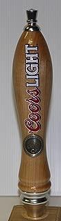 Coors Light Wood pub Tap Handle knob marker 12