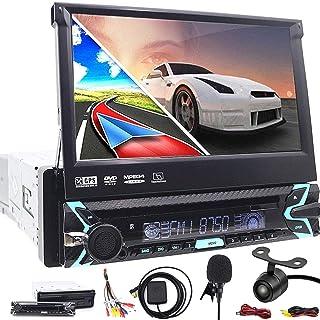 Universal Individual 1 DIN In-Dash CD MP3 Receptor estéreo USB 7 Pulgadas In-Dash Reproductor de DVD Navegación GPS Motori...