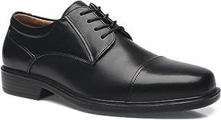 La Milano Men's Shoes a1720w Leather Slip On Dress Oxfords black Size: 8 X-Wide