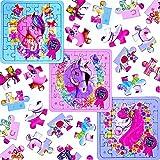 German Trendseller® - 12 x Pferde Party - Puzzle ┃ Kindergeburtstag ┃ Mitgebsel ┃ Pferde Party ┃ 12 Stück