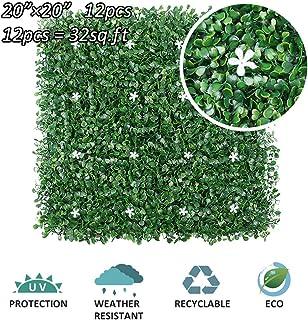 Protezione dai Raggi UV LianLe Motto.H-Siepe Artificiale per Balcone Recinzione,Recinzione in Rotolo,Protezione della Privacy 60 /× 40 Cm