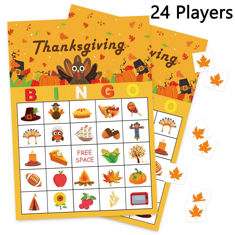 Autumn Fall Festival Bingo Game 24 Players
