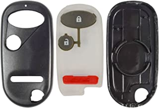 QualityKeylessPlus Replacement Keyless Entry 3 Button Case and Pad for Honda Remote Fob FCC ID E4EG8DJ or OUCG8D344HA