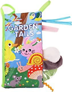 Coolplay Soft Cloth Book Cartoon Animal Tails, Printed Fabric Cloth Book, Educational and Learning Soft Cloth Book for Babies