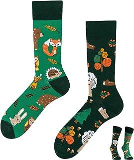 TODO, COLOURS - Calcetines divertidos con diseño de animales del bosque, multicolor