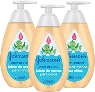Johnson's Pure Protect - Jabón de manos 3 x 300 ml