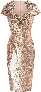 GRACE KARIN Women Summer Surplice Dresses V-Neck Short Sleeve Midi Bodycon Pencil Dress with Belt