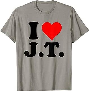 I Love JT Heart Funny JT Gift Tshirt