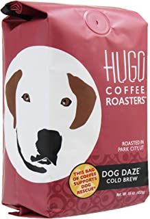 Hugo Coffee | Dog Daze Cold Brew, Coarse Ground, 1 Pound | Every Bag Sold Supports Dog Rescue