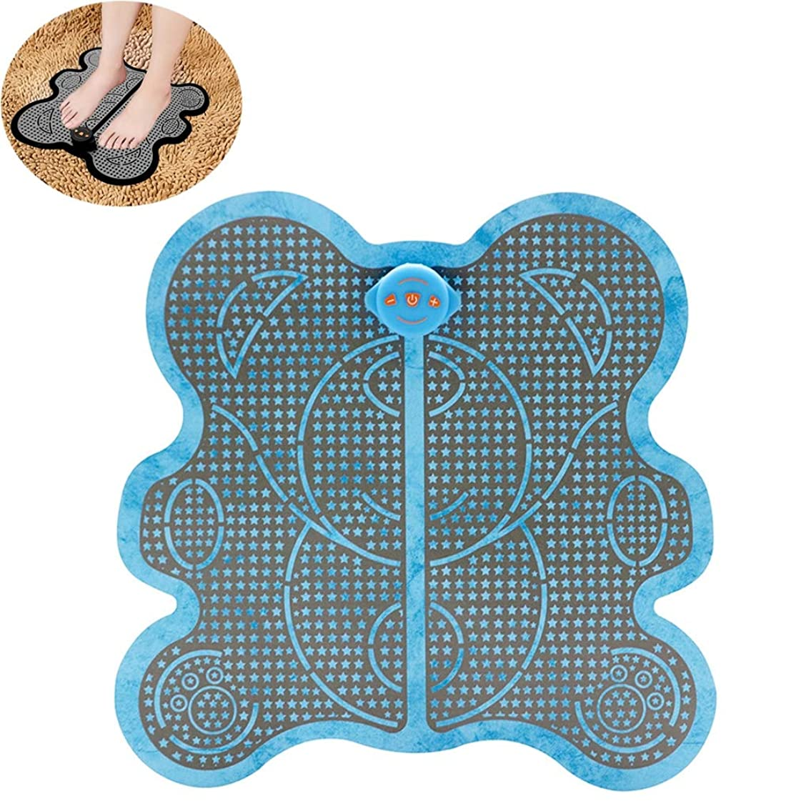 深める乳製品集団的足のマッサージャーの低頻度の脈拍EMS足のマッサージのクッションEMS理性的な理学療法のマッサージの器械,Blue