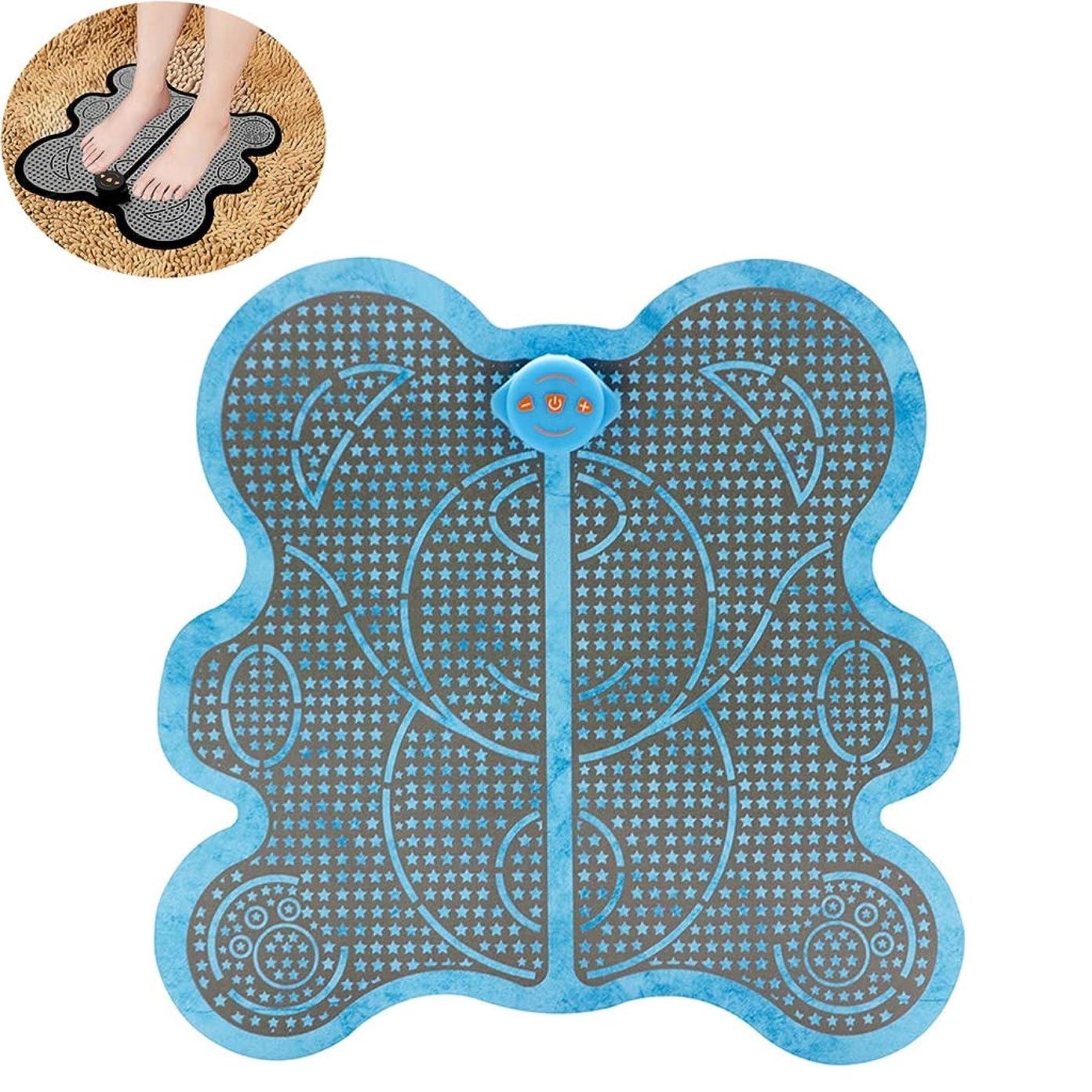 クーポン征服動機付ける足のマッサージャーの低頻度の脈拍EMS足のマッサージのクッションEMS理性的な理学療法のマッサージの器械,Blue