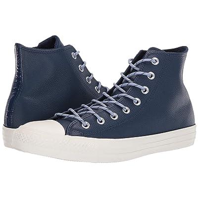 Converse Chuck Taylor(r) All Star(r) Limo Leather Hi (Navy/Indigo Fog/Egret) Athletic Shoes