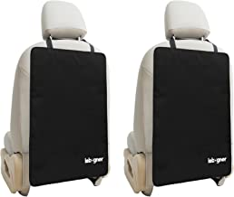 Car Seat Back Protectors by Lebogner - Luxury Kick Mat Seat Covers for The Back of Your Front Seats 2 Pack, X-Large Auto Back Seat Protector Covers, Perfect Backseat Child Kick Guard Seat Saver