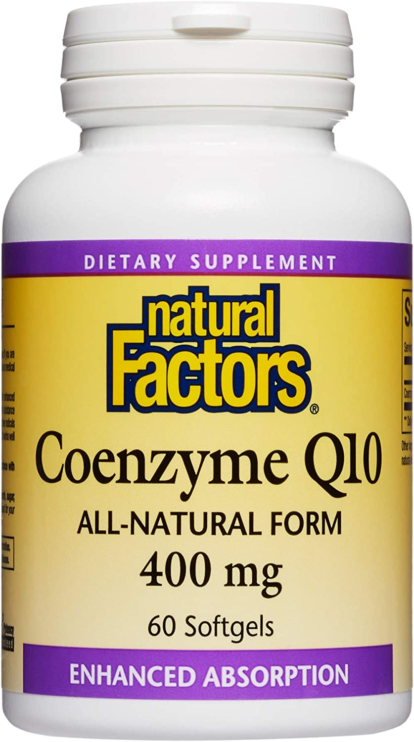 Natural Factors Coenzyme Q10 Selling and store selling 400mg Energy for CoQ10 Supplement