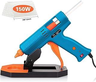 Pistola de Silicona 150W TilswallPistola de Pegamento con 35pcs Barras (11mm) 5 Temperaturas Ajustablesla BasePistola ...
