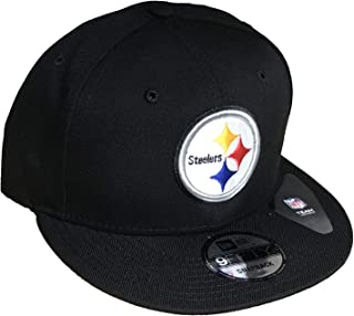 New Era Exclusive Authentic NFL Black Hat with Official Team Logo 9Fifty Snapback Adjustable OSFM